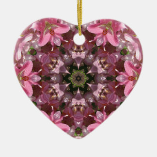 Pink Lily Fusion Kaleidoscope Ornament