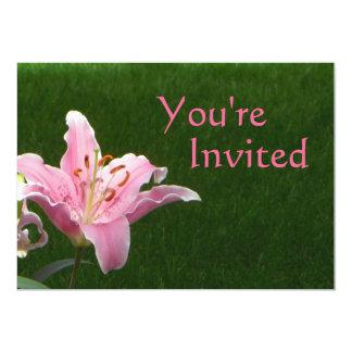 Pink Lily Invitation