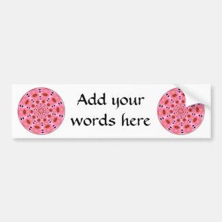 Pink Lily Kaleidoscope #1 Bumper Sticker