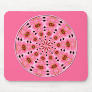 Pink Lily Kaleidoscope #1 Mouse Pad