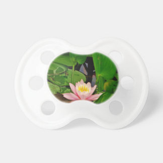 Pink lily lotus water lily flower pacifier