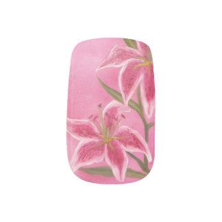 Lily nail art nail wraps zazzle pink lily minx nail art prinsesfo Gallery