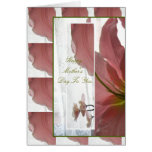 Pink Lily Mother's Day Card
