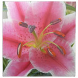 PINK LILY NAPKIN