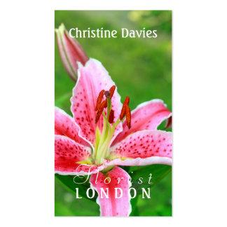 Pink lily photograhy, florist business card