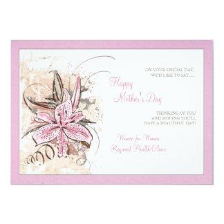 Pink Lily Pink Border Invitation