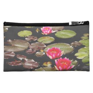Pink Lily Pond zipper bag