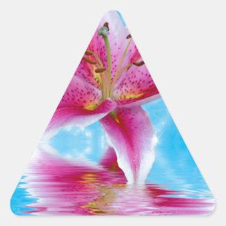Pink Lily Sparkle Triangle Sticker