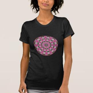 Pink Lily & White Mums Kaleidoscope #1 T-Shirt