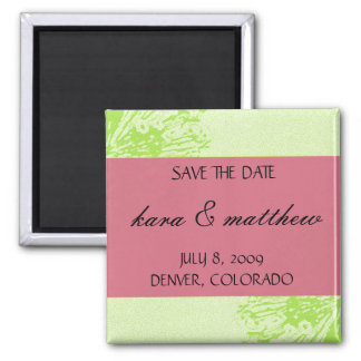 Pink & Lime Blossom Save the Date Magnet