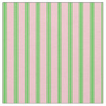 [ Thumbnail: Pink & Lime Green Lines Fabric ]