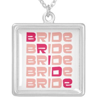 PInk Line Bridal Pendant necklace