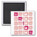 Pink Line Bride Favors magnet