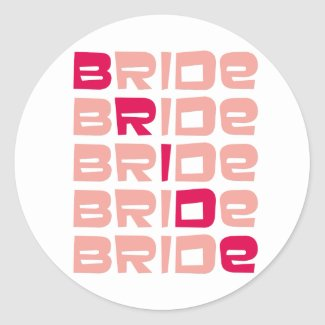 Pink Line Bride Stickers sticker