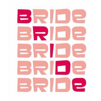 brown bridal t shirt