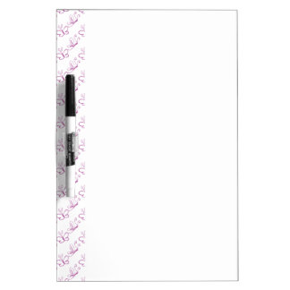 Pink Lineart Butterfly Pattern Dry-Erase Whiteboards