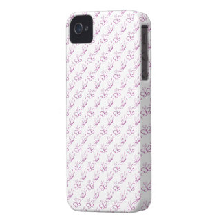 Pink Lineart Butterfly Pattern iPhone 4 Cover
