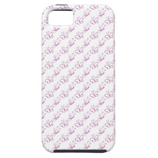 Pink Lineart Butterfly Pattern iPhone 5 Cover