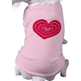 Pink Lined Heart Pet Shirt