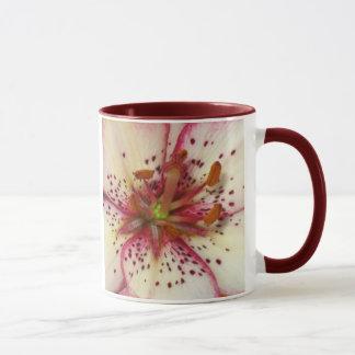Pink Lined Lily Mug