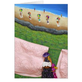 Pink Linen Card
