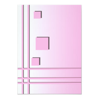 Pink Lines and Squares Graphic Design. Card