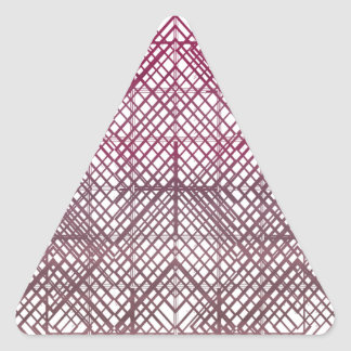 Pink Lines Triangle Sticker