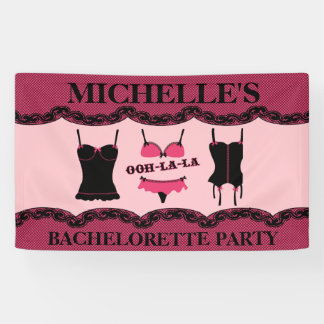 Pink Lingerie, Bachelorette Party Banner