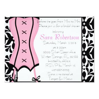 Pink Lingerie Bridal Shower Inivitation Card
