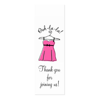 Pink Lingerie Shower Gift Tags Mini Business Card