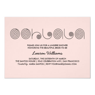 Pink Lingerie Shower Invitations Ooh La La