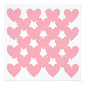 Pink Linked Hearts Card