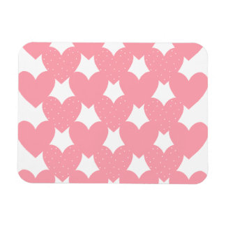 Pink Linked Hearts Magnet