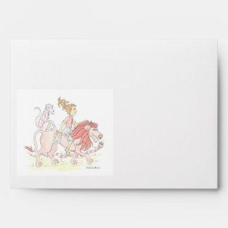 Pink Lion Envelope