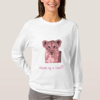 pink lion - Heart of a Lion!!! T-Shirt