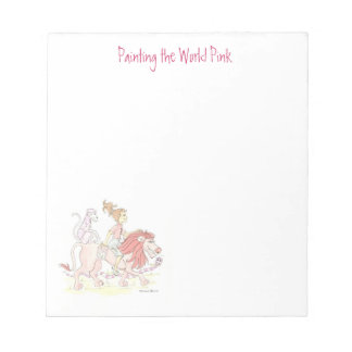 Pink Lion Tablet Notepad