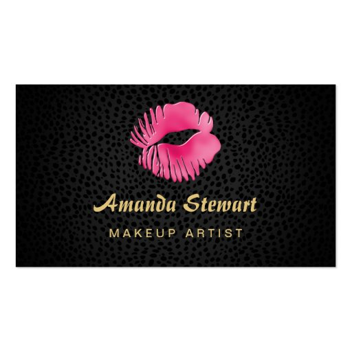 Black And Pink Kiss Makeup: Pink Lip Gloss Kiss Black Cheetah Makeup Artist Business