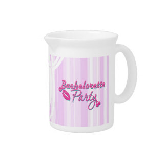 pink lips bachelorette party gifts bridal shower drink pitchers