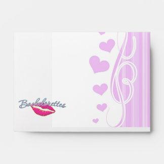 pink lips bachelorettes party bridal bridesmaids envelopes