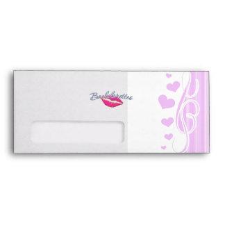 pink lips bachelorettes party bridal bridesmaids envelope
