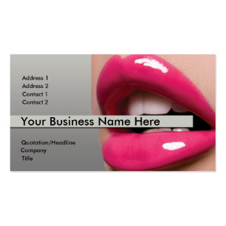 Pink Lips Business Card