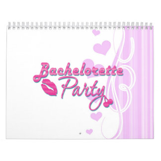 pink lips cherries bachelorette party bridal calendar