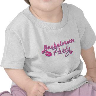 pink lips cherries bachelorette party bridal tee shirts