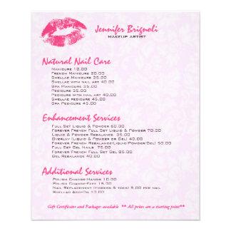 Pink Makeup Artist Flyers & Programs | Zazzle