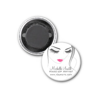 Pink lips Face long lashes Lash Extensions Magnet