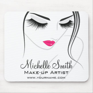 Pink lips Face long lashes Lash Extensions Mouse Pad
