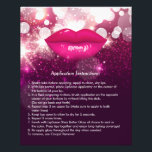 """Pink Lips Glitters Beauty Salon Instruction Tips Flyer<br><div class=""""desc"""">Pink Glitter Lips Beauty Salon Instruction Tips Flyer. (1) For further customization,  please click the &quot;customize further&quot; link and use our design tool to modify this template.  (2) If you need help or matching items,  please contact me.</div>"""