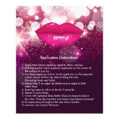 Pink Lips Glitters Beauty Salon Instruction Tips Flyer at Zazzle