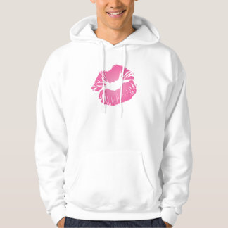 Pink LIps Hooded Pullovers