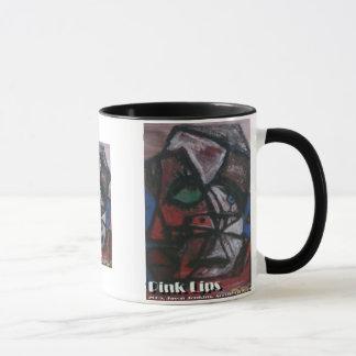 pink lips mug